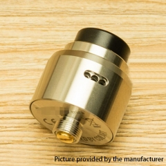 DPRO Mini Style 22mm RDA Rebuildable Dripping Atomizer w/BF Pin - Silver