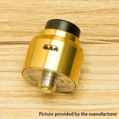 DPRO Mini Style 22mm RDA Rebuildable Dripping Atomizer w/BF Pin - Gold