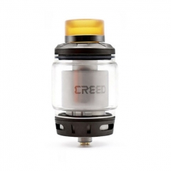 Creed Style 25mm RTA Rebuildable Tank Atomizer 4.5ml/6.5ml - Black