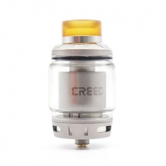 Creed Style 25mm RTA Rebuildable Tank Atomizer 4.5ml/6.5ml - Silver