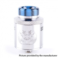 Drop Dead Style 24mm RDA Rebuildable Dripping Atomizer w/ BF Pin - Silver