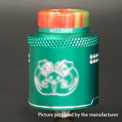 Drop Dead Style 24mm RDA Rebuildable Dripping Atomizer w/ BF Pin - Green