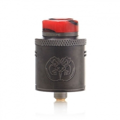 Authentic Hellvape Drop Dead 24mm RDA Rebuildable Dripping Atomizer w/ BF Pin - Gun Metal