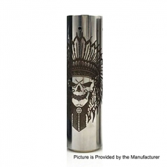 Rogue Rainmarker Style 18650/20700 Hybrid Mechanical Tube Mod - Silver