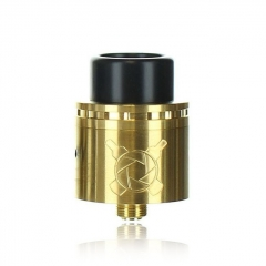 Authentic Asmodus Vault 24mm RDA Rebuildable Dripping Atomizer w/ BF Pin - Gold