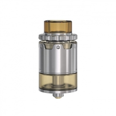 Pyro V2 Style 24mm RDTA Rebuildable Dripping Tank Atomizer w/ BF Pin 4ml - Silver