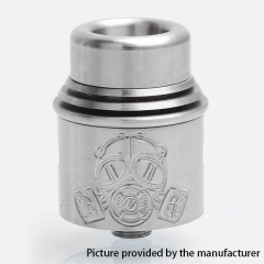 Apocalypse Style 24mm RDA Rebuildable Dripping Atomizer w/BF Pin - Silver