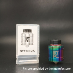 BTFC Style 25mm RDA Rebuildable Dripping Atomizer w/ BF Pin -  Rainbow