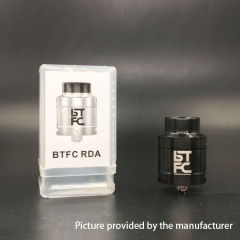 BTFC Style 25mm RDA Rebuildable Dripping Atomizer w/ BF Pin - Black