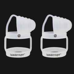 Iwodevape Universal Silicone Anti-Slip Vape Band + Anti-Dust Cap Combo Wide Version (2-Pack) - White