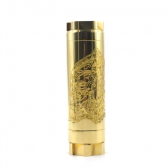 AV Kane Style 30mm 18650/20700 Hybrid Mechanical Mod - Brass