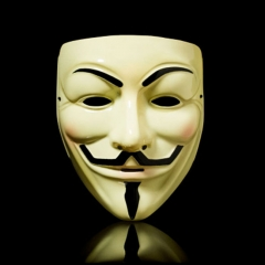 V for Vendetta Mask Adult Mens Guy Fawkes Anonymous Halloween Party Mask - Yellow