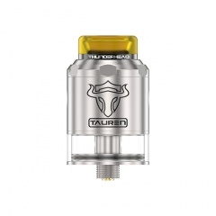 Thunderhead Creations Tauren BF 24mm RDTA Rebuildable Dripping Tank Atomizer w/BF Pin 2ml - Silver