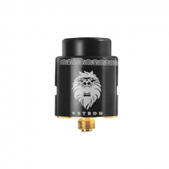 Authentic Vapor Storm Lion 24mm RDA Rebuildable Dripping Atomizer - Black