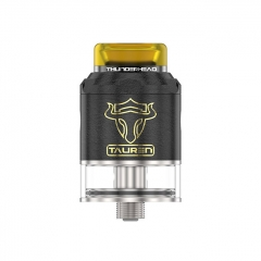 Thunderhead Creations Tauren BF 24mm RDTA Rebuildable Dripping Tank Atomizer w/BF Pin 2ml - Black Brass
