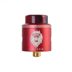 Authentic Vapor Storm Lion 24mm RDA Rebuildable Dripping Atomizer - Red