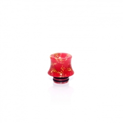 510 Fuji Drip Tip for RDA / RTA / Sub Ohm Tank Atomizer 15mm (1pc) - Red Resin