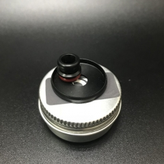 Replacement DEE Mod Style 510 Drip Tip + 22mm Beauty Ring - Black