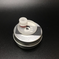 Replacement DEE Mod Style 510 Drip Tip + 22mm Beauty Ring - White