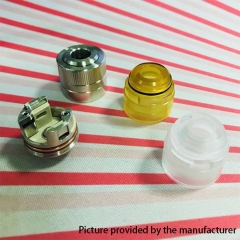 Space5 Style 22mm RDA Rebuildable Dripping Atomizer w/ BF Pin/ PEI Cap/ PC Cap - Silver