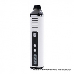Authentic Hugo Vapor Pathfinder V2 2200mAh TC Dry Herb Wax Vaporizer Kit 0.7ohm - White
