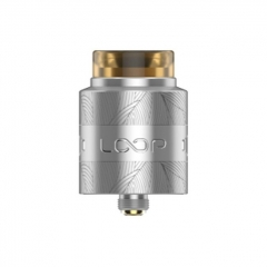 Authentic Loop V1.5 24mm RDA Rebuildable Dripping Atomizer w/ BF Pin - Silver