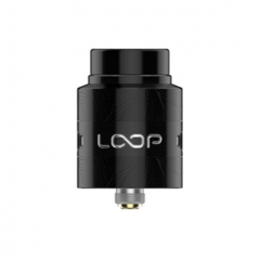 Authentic Loop V1.5 24mm RDA Rebuildable Dripping Atomizer w/ BF Pin - Black