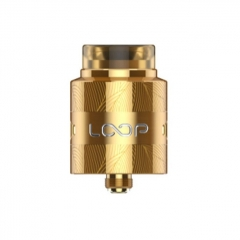 Authentic Loop V1.5 24mm RDA Rebuildable Dripping Atomizer w/ BF Pin - Gold