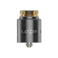Authentic Loop V1.5 24mm RDA Rebuildable Dripping Atomizer w/ BF Pin - Gun Metal