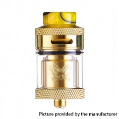 Dead Rabbit Style 24mm RTA Rebuildable Tank Atomizer 4ml - Gold