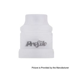 Authentic Wotofo 22mm Conversion Cap for Profile RDA - White Frosted