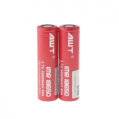 Authentic Aweite AWT IMR 18650 3.7V 3000mAh Rechargeable Li-Mn Batteries (2-Pack)