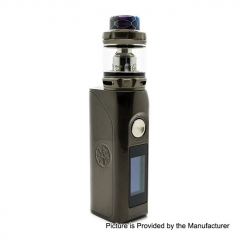 Authentic Asmodus Colossal 80W 25mm TC VW Box Mod + Wotofo Flow Pro Sub Ohm Tank Kit 5ml - Gun Metal