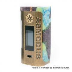 Authentic Asmodus Lustro 200W Touch Screen TC VW Variable Wattage Box Mod (Kodama Edition)- Bright Green
