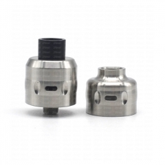 (Ships from Germany)ULTON Salix Style 22mm MTL RDA Rebuildable Dripping Atomizer w/BF Pin/ Extra Cap - Silver