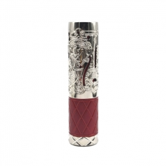 Pur Queen Style 18650/20700 Mechanical Mod 26mm - Silver Red