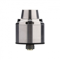 Authentic 5GVape Freedom 22mm 316SS RDA Rebuildable Dripping Atomizer w/ BF Pin - Silver