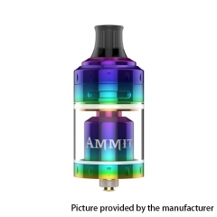 Authentic Ammit 24mm MTL RTA Rebuildable Tank Atomizer 4ml - Rainbow