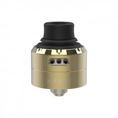 Authentic Vapefly Pixie 22mm RDA Rebuildable Dripping Atomizer w/ BF Pin - Gold