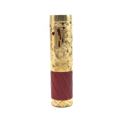 Pur Queen Style 18650/20700 Mechanical Mod 26mm - Red Brass