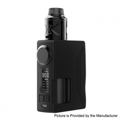 Authentic Hugsvape Surge 80W 18650/20700 TC VW Squonk Mod + Piper BF RDA Kit 24mm - Black