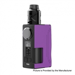 Authentic Hugsvape Surge 80W 18650/20700 TC VW Squonk Mod + Piper BF RDA Kit 24mm - Purple