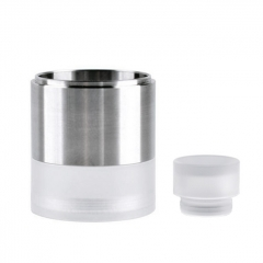 ULTON Replacement Tank + Shield + Drip Tip for VG Extreme RTA 23mm #3- Silver