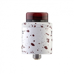 Authentic Hellvape Drop Dead 24mm RDA Rebuildable Dripping Atomizer w/ BF Pin - White