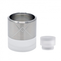ULTON Replacement Tank + Shield + Drip Tip for VG Extreme RTA 23mm #2- Silver