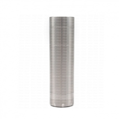 (Ships from Germany)ULTON Mecanic Style 18650/20650/20700/21700 25mm Mechanical Mod w/ Extra 23mm Connector (With Logo) - Silver