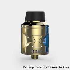 Authentic Hugsvape Piper 24mm RDA Rebuildable Dripping Atomizer w/ BF Pin - Gold