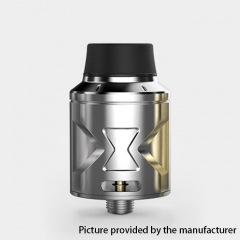 Authentic Hugsvape Piper 24mm RDA Rebuildable Dripping Atomizer w/ BF Pin - Silver