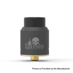 Authentic Riscle Pirate King V2 24mm RDA Rebuildable Dripping Atomizer w/ BF Pin - Black