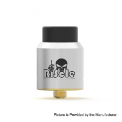Authentic Riscle Pirate King V2 24mm RDA Rebuildable Dripping Atomizer w/ BF Pin - Silver